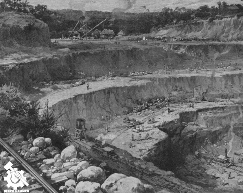 la construcción del canal colonial de Panamá
