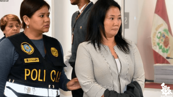 keiko fujimori handcuffed and detained on corruption charges