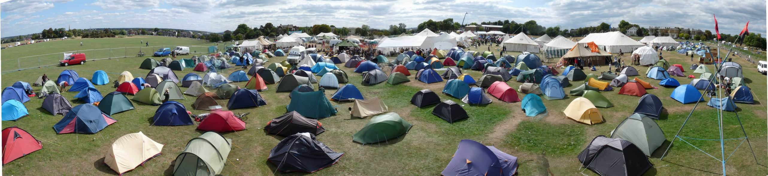 During the Blackheath Climate Camp, photo by Indymedia