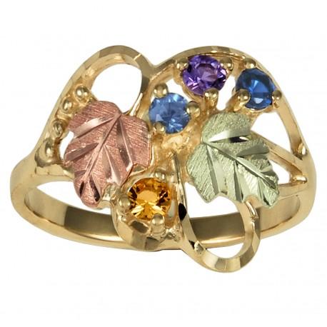 Coleman Black Hills Gold Family Birthstone Ring 1 7 Stones