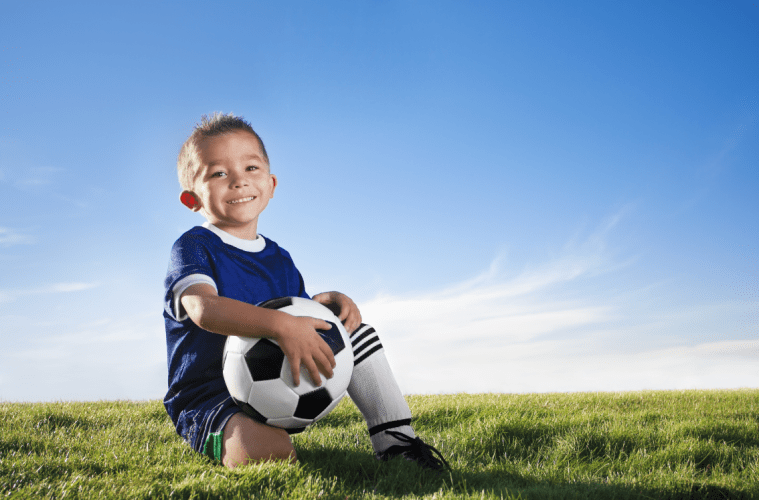 Boy and Soccer Ball