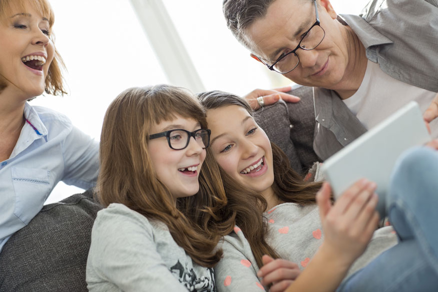 Family-with-Tablet