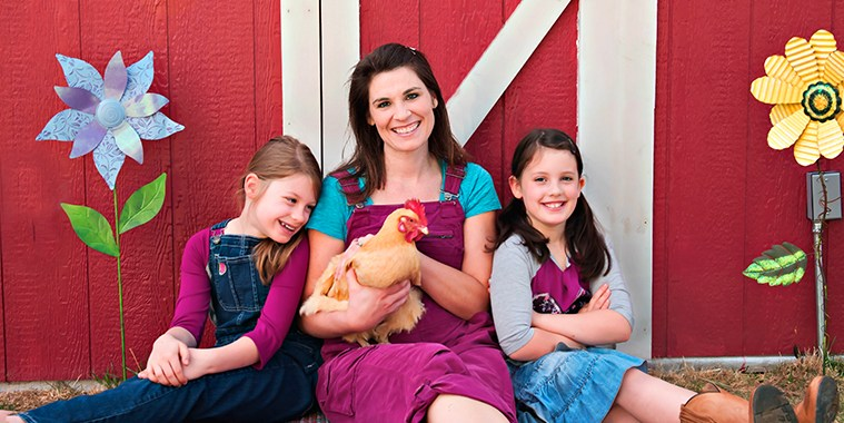 Sarah Family with Chicken