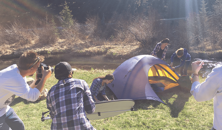 Camping Photoshoot