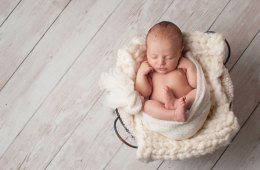 Newborn in Basket