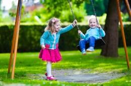 Kids on Swings