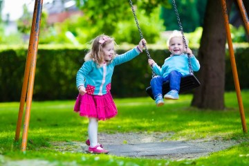 Kids on Swings