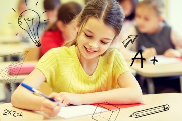 Girl with Homework- School Graphics