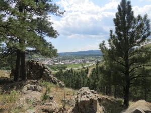 M Hill trail views