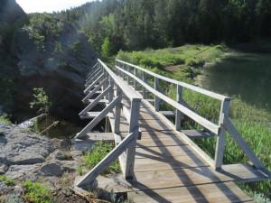 Iron Creek Lake bridge