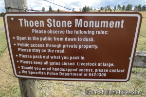 Thoen Stone Monument Spearfish, SD