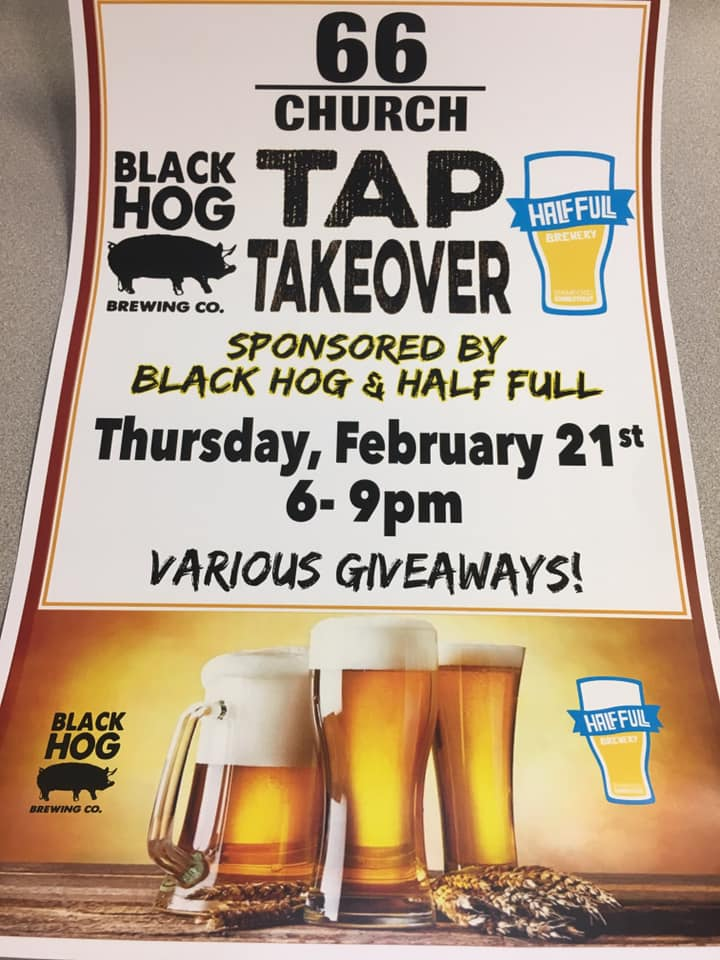 Tap takeover sponsored by Black Hog & Half Full | Black Hog