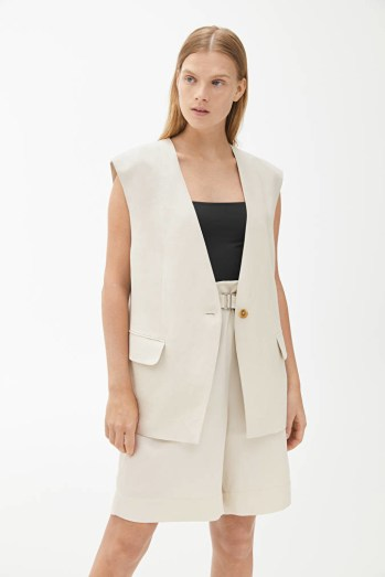 Oversized Linen Waistcoat ARKET
