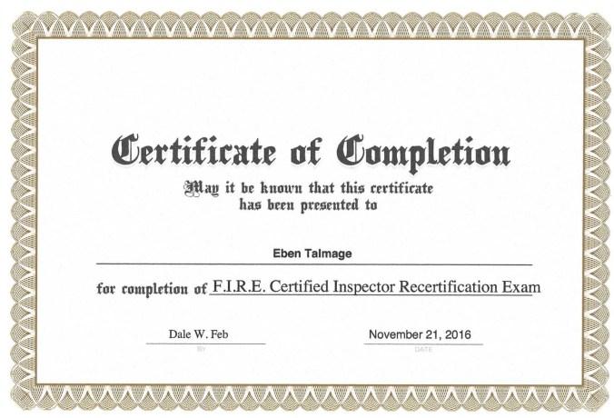 Certifications Black Jack Chimney Sweep