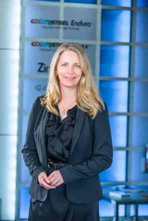 Gretta Stephens focuses on BlueScopes sustainability initatives.