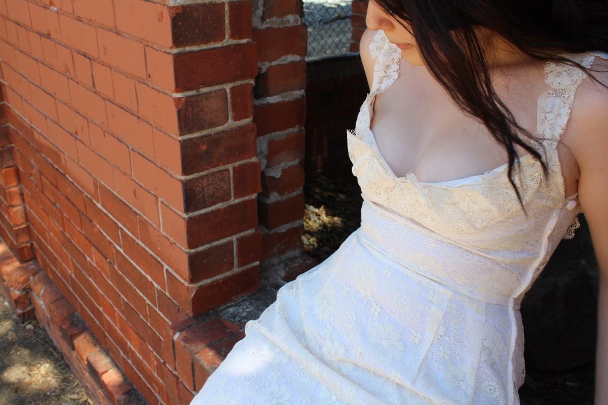 A Lace Bustier Dress
