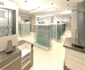 Pharmacy interior design Acra Ghana