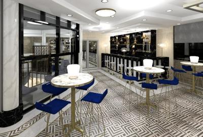 Just Cuban restaurant interior design render