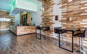 Vape cafe interior architecture and retail design by blackline retail interiors