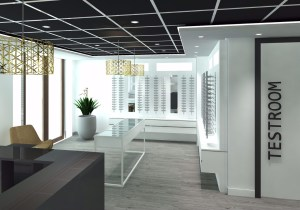 interior design for an upmarket optometry store by blackline retail interiors