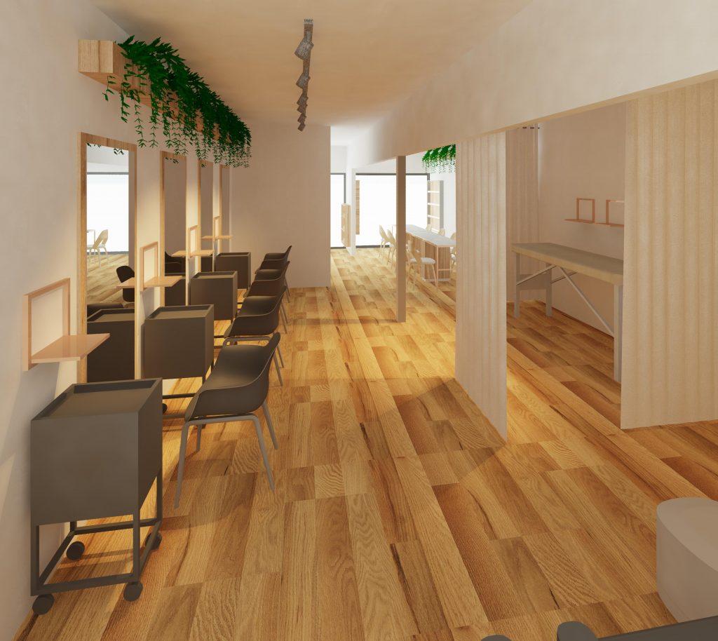 blackline interiors salon design