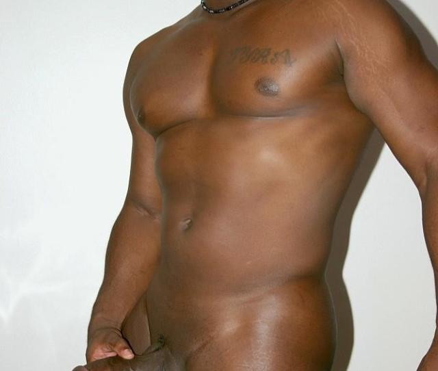 Black Muscle Thug Jerking Off His Thick Black Cock