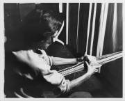 Anni Albers, Photograph of Anni Albers card weaving at Black Mountain College. Anni Albers taught Weaving and Textile Design at Black Mountain College from 1933-1949. Courtesy The North Carolina State Archives.
