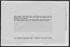 #15 Vol. II, No. 6 - 04.1944 Black Mountain College Bulletin. Courtesy of Western Regional Archives.