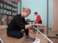 Photo by Mari Lassen-Bergsten Kamsvaag. Katrine Leth Nielsen and Marina Popovic in work.