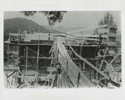 Black Mountain College: Bau eines Collegegebäudes, Lawrence Kocher (Architekt), Lake Eden Campus, 1940-41. © Courtesy of Western Regional Archives, States Archives of North Carolina