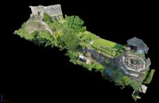 Usk Castle 3D model