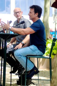 John Romita Jr. with David Shoemaker at Bryant Park Reading Room