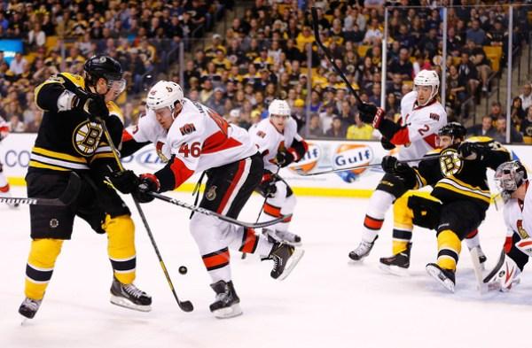 Senators Bruins - Marchand Bergeron