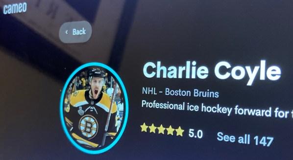 Charlie Coyle Cameo