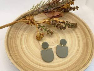 black-owned handmade polymer clay earrings business courage & clay