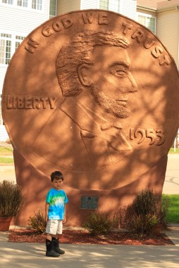 World's Largest Penny, Woodruff, WI