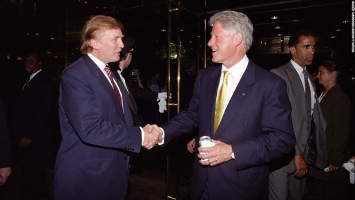Image result for trump clintons