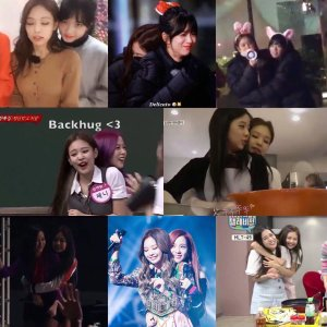 Blackpink Jisoo Jennie backhug collection
