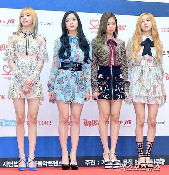 Blackpink Gaon Chart Award Red Carpet