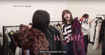 Blackpink-Lisa-Jisoo-leopard-fur-jacket