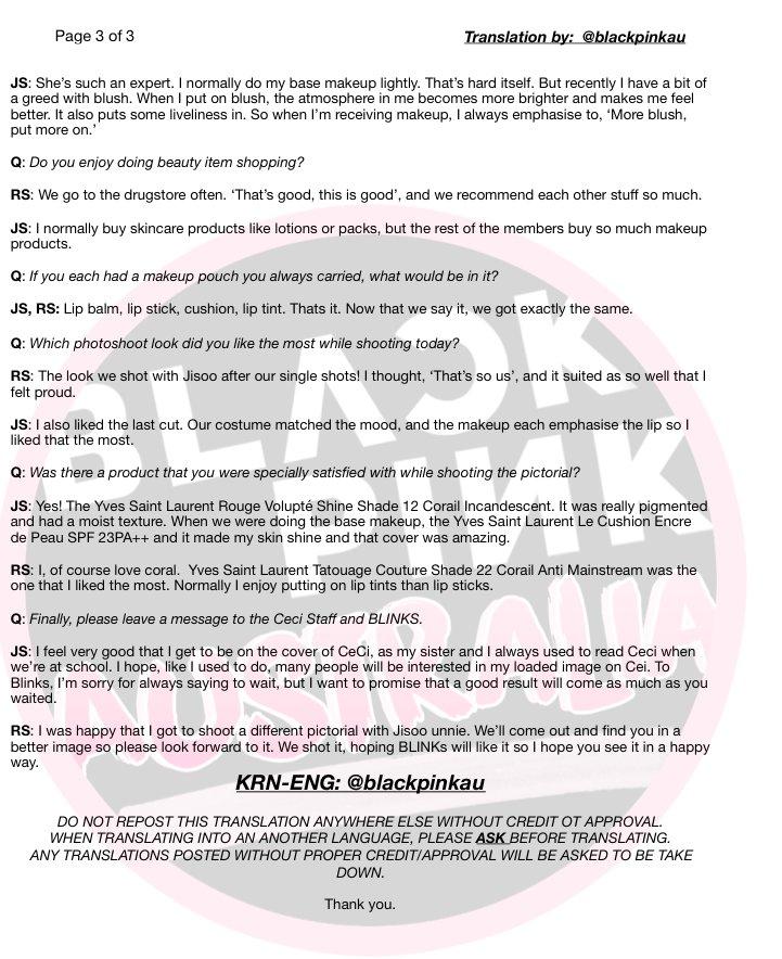 Blackpink Jisoo Rose Ceci Korea Interview 3
