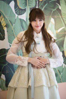 Blackpink Lisa wearing hanbok