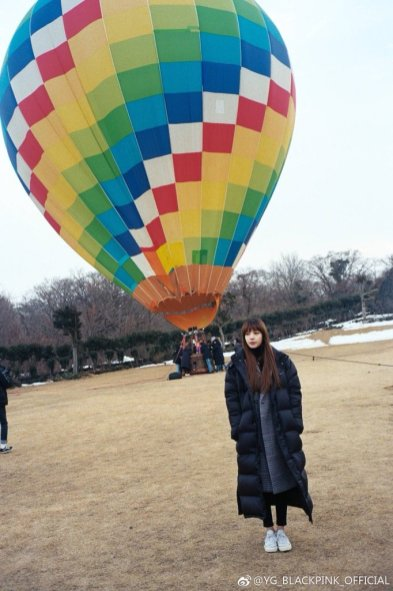Weibo Blackpink Lisa Hot Air Balloon Jeju Island