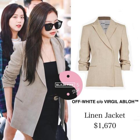 Blackpink Jennie Airport Fashion 20 April 2018 jacket