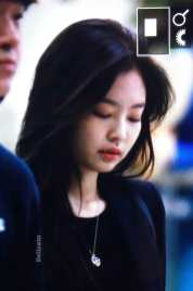 Blackpink Jennie airport fashion black outfit