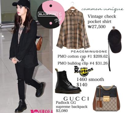 Blackpink Jisoo Airport Fashion 1 April 2018