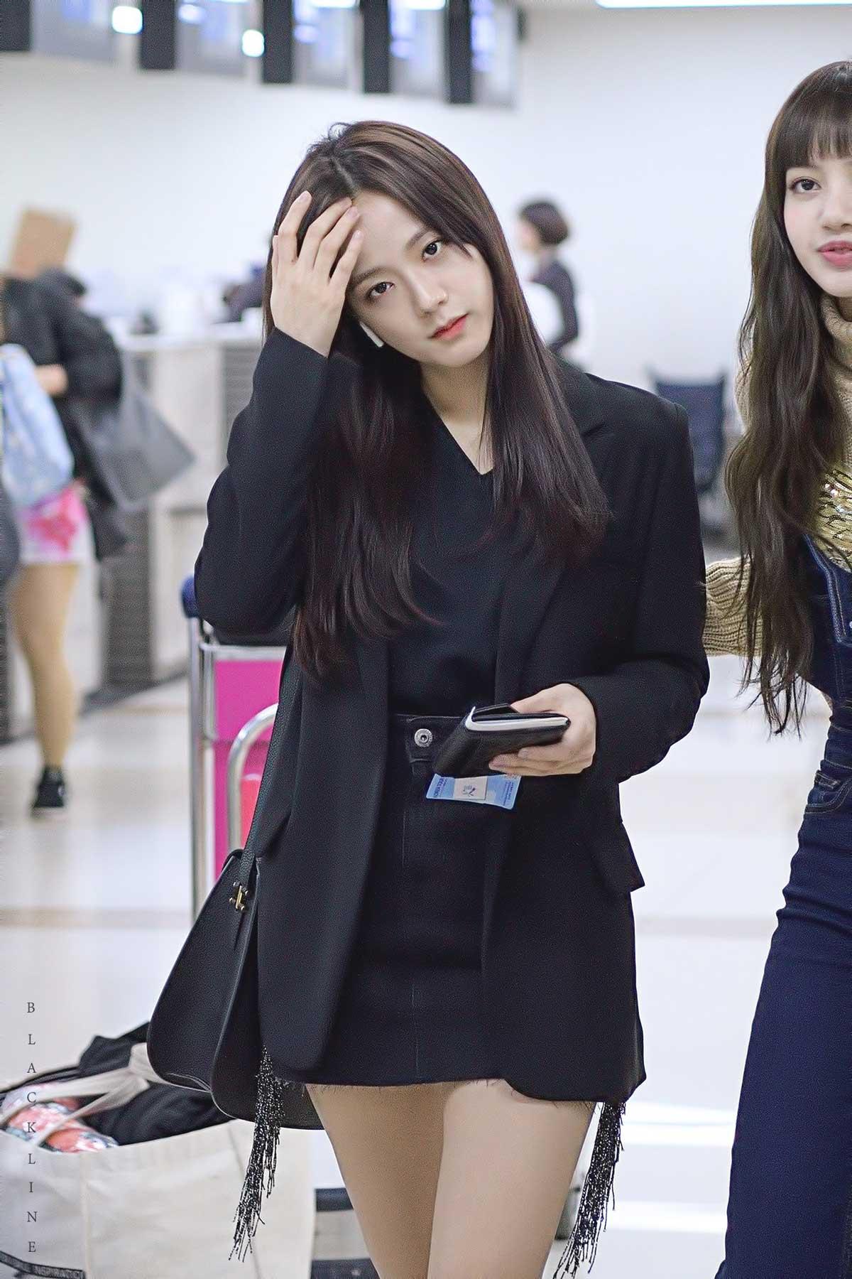 Blackpink Jisoo Airport Fashion 27 March 2018