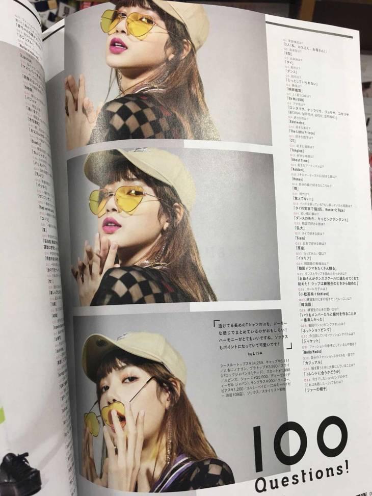 Scan Blackpink Lisa Mini Japan Magazine June 2018 Issue