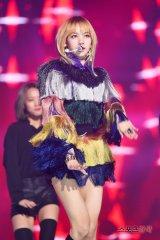 Blackpink Lisa rainbow outfit