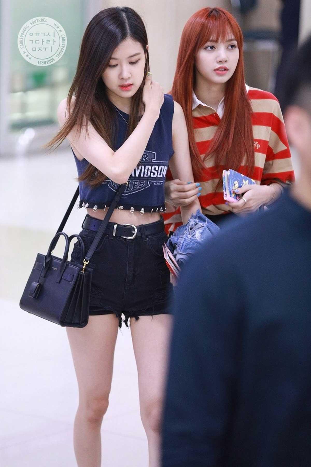 Blackpink Rose Airport Fashion 7 August 2018